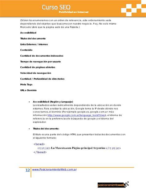 Posicionamiento Web Orienado Negocios
