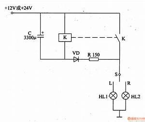 Motor Vehicle Steering Flasher 9 - Basic Circuit - Circuit Diagram