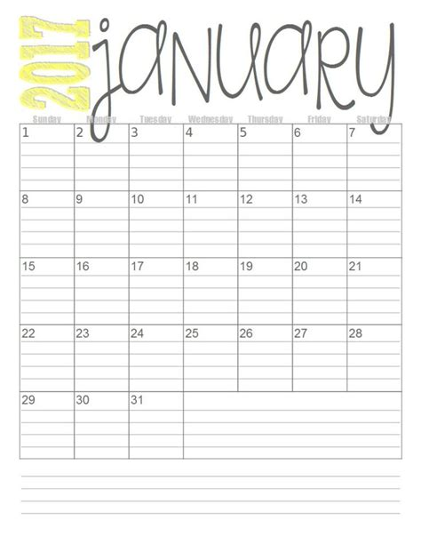 monthly calendars  images  printable