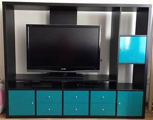 Ikea lappland wohnwand schwarzbraun fernseh schrank for Fernseh schrank