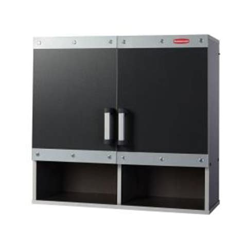 rubbermaid storage cabinets home depot rubbermaid fasttrack 30 in laminate garage wall cabinet