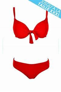 Daxon Maillot De Bain : maillot de bain balconnet rouge femme bikini push up pas cher ~ Melissatoandfro.com Idées de Décoration