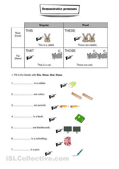 spanish demonstrative adjectives worksheet de compras