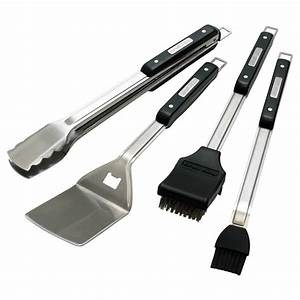 Ustensiles Pour Barbecue : ensemble de 4 ustensiles pour barbecue inox rona ~ Premium-room.com Idées de Décoration
