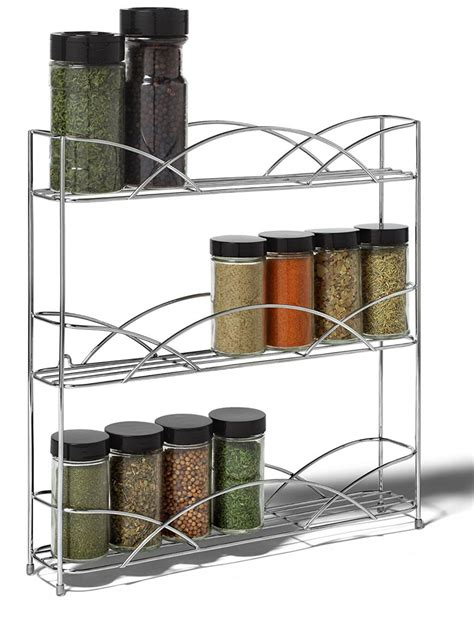 Wire Spice Rack by Silver Wire Wall Mount Spice Rack In Spice Racks