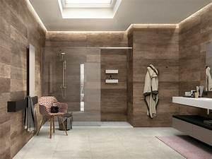 carrelage mur salle de bain aspect bois With salle de bain carrelage bois
