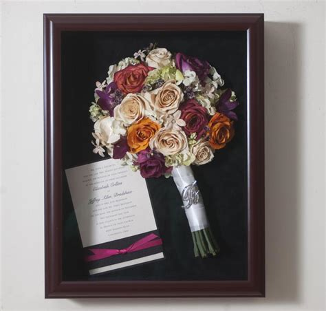 shadow box wedding bouquet