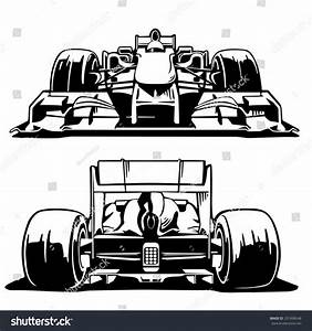Racing Car Formula 1 Front Back Stock Vector 331608548 Shutterstock