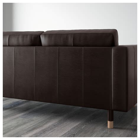 two seat sofa and chaise longue landskrona two seat sofa and chaise longue grann bomstad brown wood ikea
