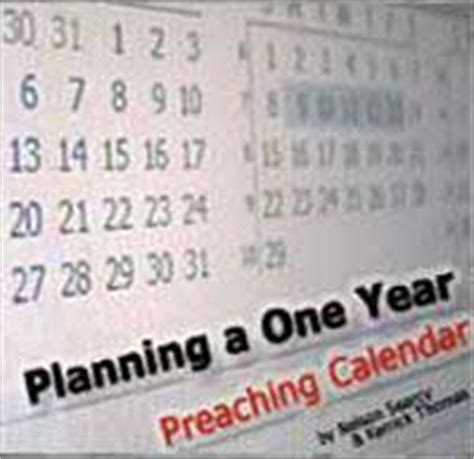 foto de FREE Planning A One Year Preaching Calendar Download from