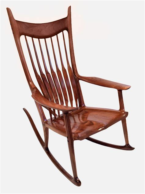 maloof rocking chair auction paddle8 rocking chair sam maloof studio