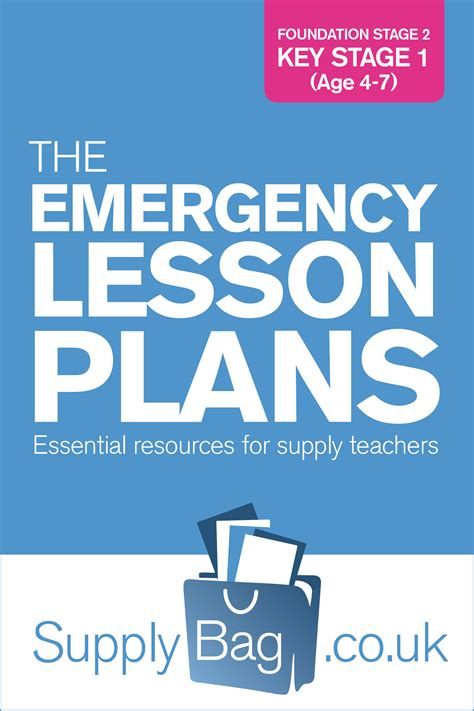 Foundation Stage 2 And Key Stage 1 Emergency Lesson Plans Supplybagsupplybag