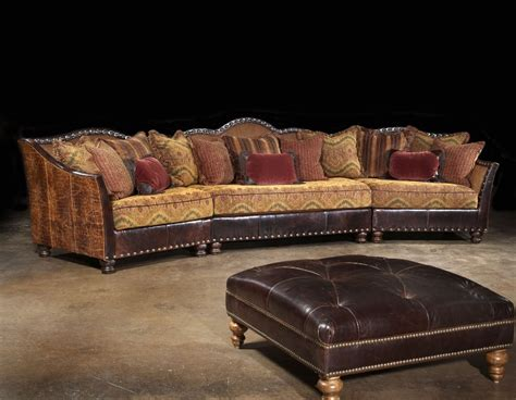 Rustic Sectional Sofa by Western Sectional Rustic Sectional Western Family Room
