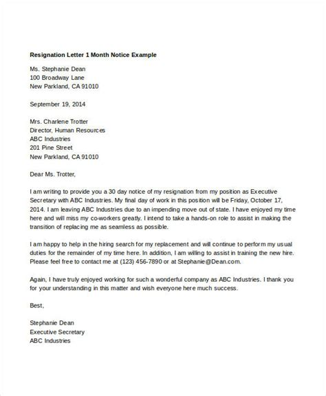 simple resignation letters  premium templates