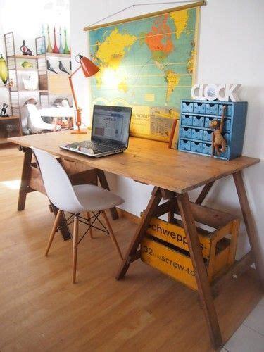 bureau recup idée un bureau sur tréteaux 12 inspirations et une