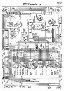 Complete Wiring Diagram For 1957 Chevrolet 6 One