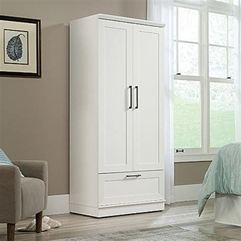 Bedroom Storage Cupboards by Soft White Wardrobe Storage Cabinet 423973 The Home Depot