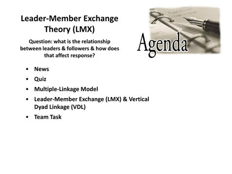 leader member exchange theory lmx powerpoint