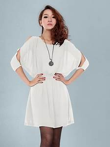 White summer dresses with sleeves