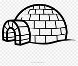 Igloo Coloring Iglu Colorear Dibujo Drawing Template Pngkey Transparent Sketch Pngfind sketch template
