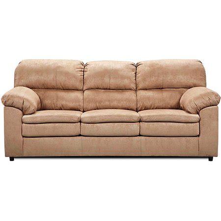 Simmons Upholstery Queensize Sleeper Sofa, Tan Microfiber