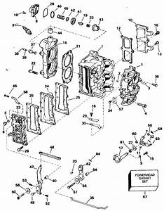 Johnson Cylinder  U0026 Crankcase Parts For 1994 15hp J15rere