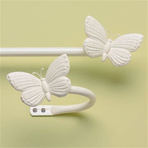 antique white butterfly curtain rod holdbacks 28