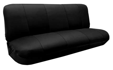 Bench Seat Covers For Cars by Mesh Knit Polyester Solid Black Seat Cover Size Bench