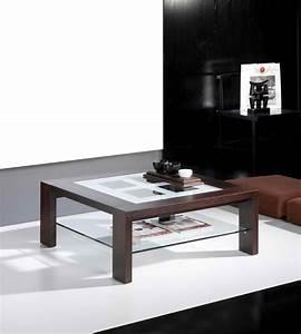 Table Basse Carrée Verre : table basse carr e weng avec 2 plateaux en verre contemporaine india ~ Teatrodelosmanantiales.com Idées de Décoration