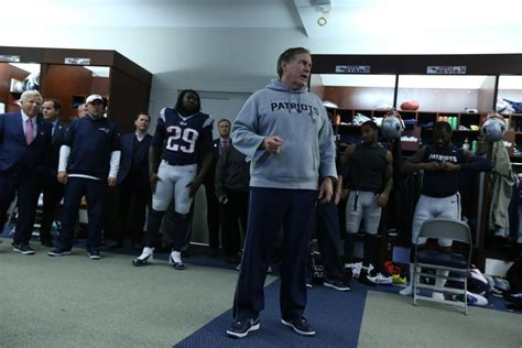 patriots locker room  bill belichicks