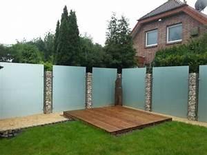 Zaun Aus Glas : glas und stein zaun gemischt zaun pinterest sichtschutz garten zaun garten und zaun ~ Yasmunasinghe.com Haus und Dekorationen