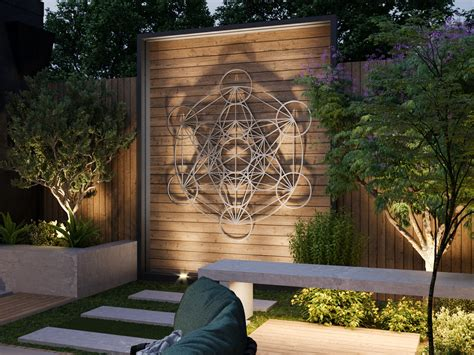 Our metal art collection has. Metatron Cube Outdoor Metal Wall Art, Large Outdoor Sculpture, Sacred Geometry Decor, Stainless ...