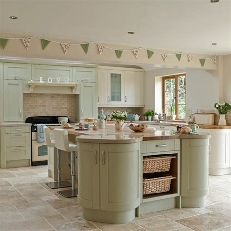 kitchen island color ideas green kitchen cabinets with island color ideas 7
