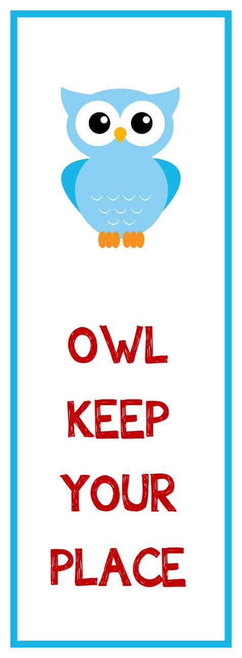 bookmark favors owl bookmark printable