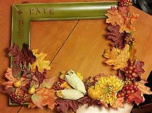 Picture Frame Door Wreaths Fall