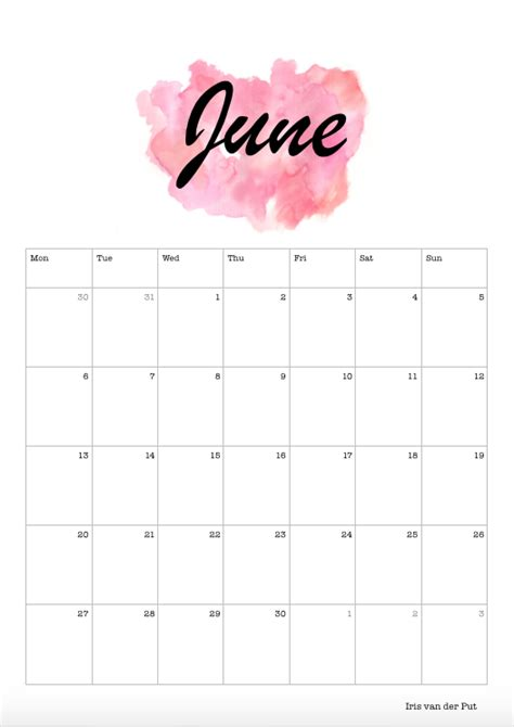 selfmade calander calendar calendars celender celendar  june diy