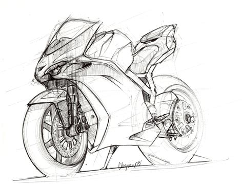Motorcycles Sketches By Clément Lagneau At Coroflot.com