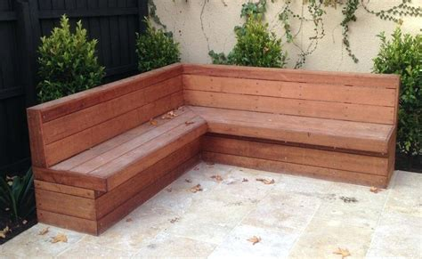 Patio Table With Bench Seating by Outdoor Patio Bench Seating Seat Wooden Benches Wood With