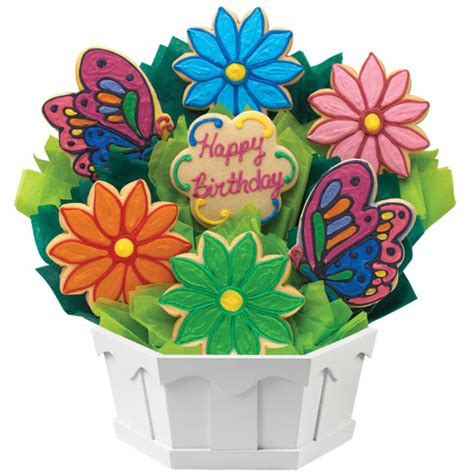 cookie bouquets flower cookie bouquet birthday gifts for cookies by
