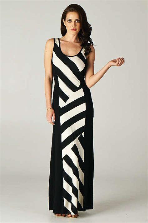 black and white striped maxi dress iris gown