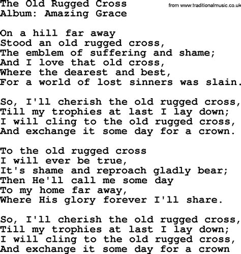 To The Rugged Cross Lyrics by The Rugged Cross By George Jones Counrty Song Lyrics