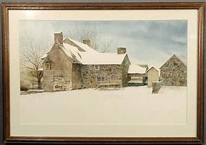 Patricia Von Oesen : image peter sculthorpe fine large watercolor painting of a pennsylvania stone farmhouse ~ Eleganceandgraceweddings.com Haus und Dekorationen
