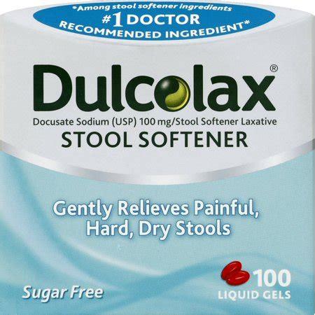 dulcolax stool softner dulcolax stool softener liquid gels 100ct docusate sodium