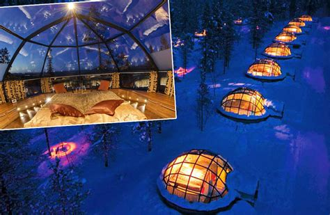 Northern Lights Job To Observe From Glass Igloo Finland