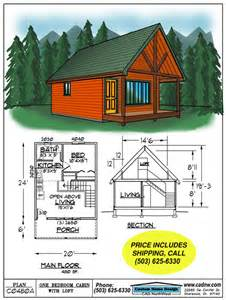 Stunning Small Cabin Plans by C0480a Cabin Plan Details