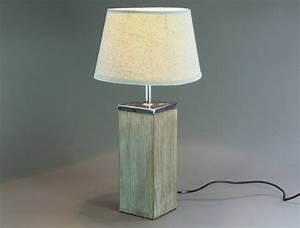 Lampe Mit Holzfuß : tischlampe lampe nachttischlampe tischleuchte h he 46 cm landhaus ebay ~ Eleganceandgraceweddings.com Haus und Dekorationen