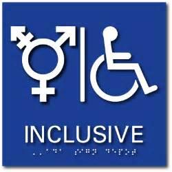 gender inclusive bathroom sign inclusive symbol wheelchair accessible bathroom ada signs