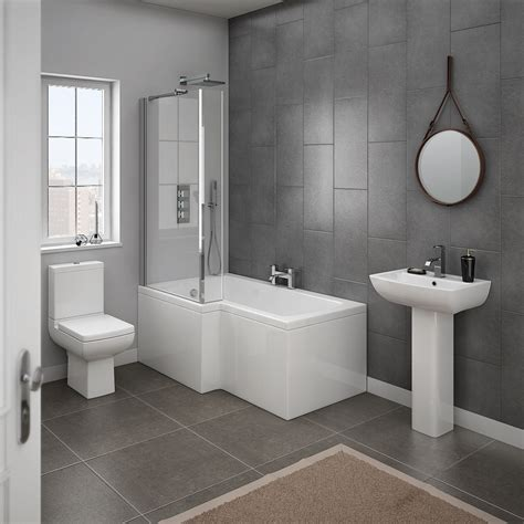 bathroom suites ideas milan 4 modern bathroom suite from