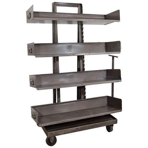 industrial bookcase on wheels industrial bookcase with wheels at 1stdibs