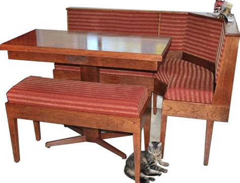 wrap around bench kitchen table bench seating table and tall cabinet cushioned wrap around